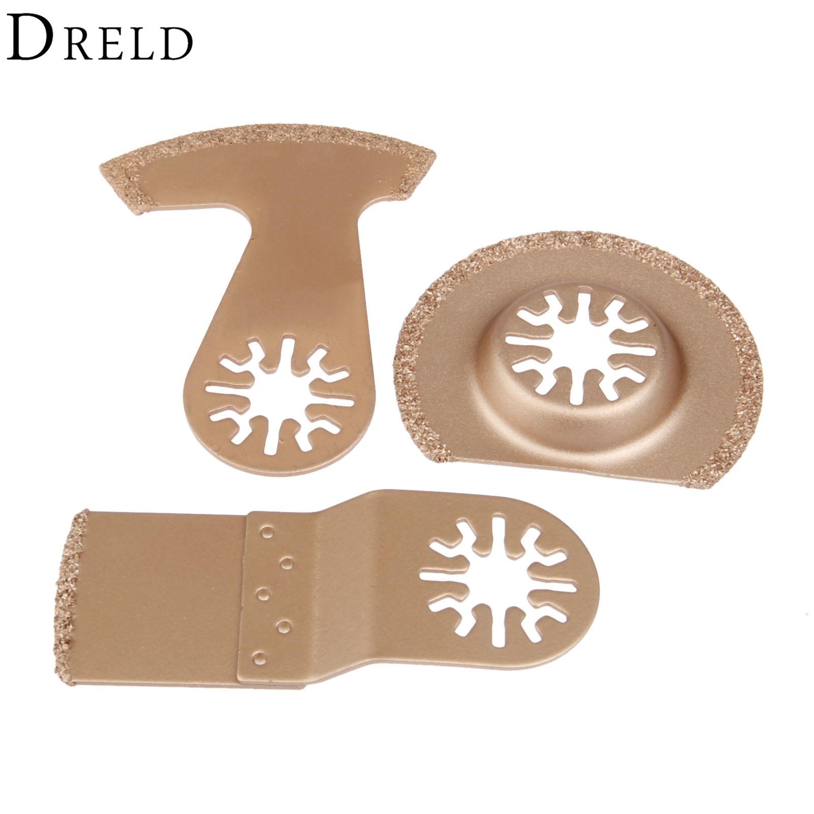 DRELD 3Pcs Oscillating Multi Tool Diamond Carbide Segment Saw Blade Multifunction For Multimaster Renovator Bosch Power Tools