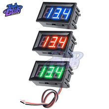 3 Wires 0.56inch LED Voltmeter Voltage Meter Car Motorcycle Volt Tester Detector Three Digital DC 12V Capacity Red Green Blue стоимость