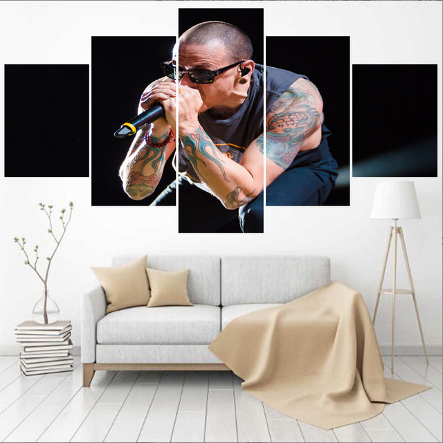Popular Famous Singer Wall Art Pictures Home Decor Chester Bennington Canvas Painting Calligraphy Living Room HD Printed Poster