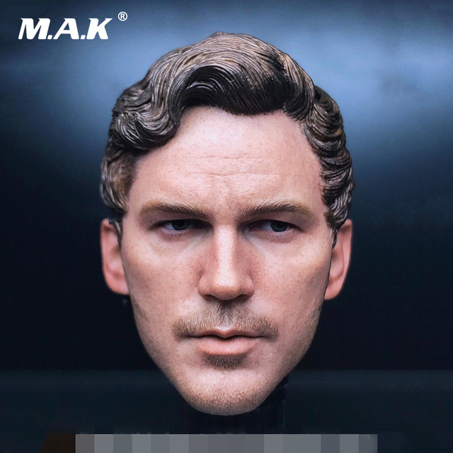 "Custom 1/6 Scale Male Head Carved Star-Lord 2.0 Chris Pratt Head Model fit 12"" Man Action Figure Body Model Toys Accessory"