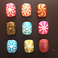 Chegada de novo! 1 Folha Flor Do Coração Oco Out DIY Nail Art Stamping Stencil Reutilizável Adesivo