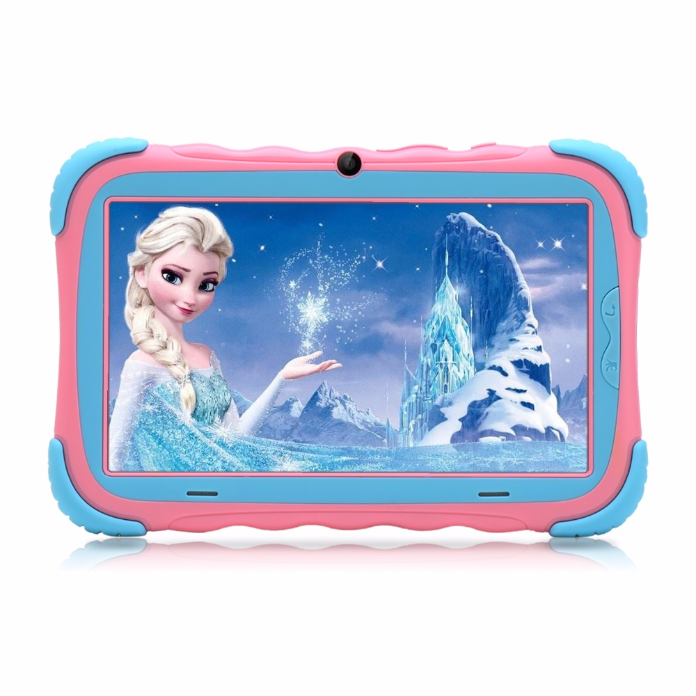 iRULU Original Y5 7″ Babypad 1024*600 IPS Quad Core Android 7.1 Tablet PC 1G/16GB With Silicone Case Kids Tablet WIFI
