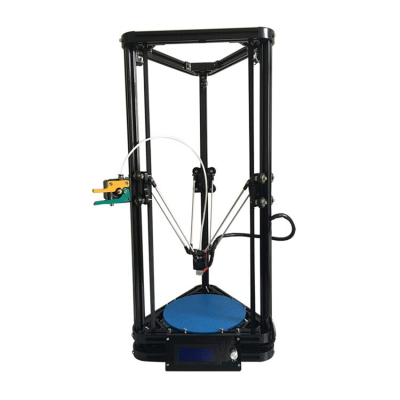 HE3D K200 delta DIY 3d printer kit autolevel with heated bed single nozzle full metal MK8 improved remote extruder kit he3d heat bed upgrade kit for k200 3d delta printer