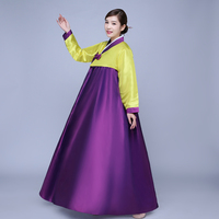 7 colors korean traditional clothing cotton hanbok korean costumes women asian style dresses hanbok dress stage performance
