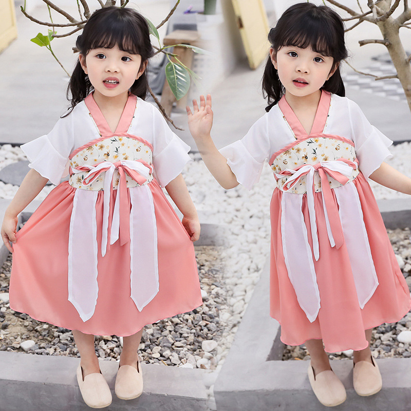 Hanfu Dance Fairy Dress Kids Children Costumes For Girls Ancient Chinese Clothes Performance Clothing Tang Dynasty Suit DQS1939