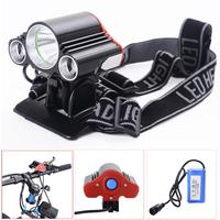 2017 NEW bike light 3X T6 LED Bike Bicycle Front Light Lamp Headlight Headlamp+battery+charger september26