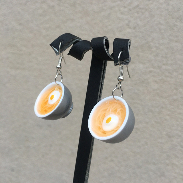Egg Noodles Earrings 1