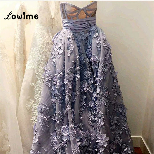 Sexy Burgundy Long Purple High Low Gala Prom Dress Floral Applique ...