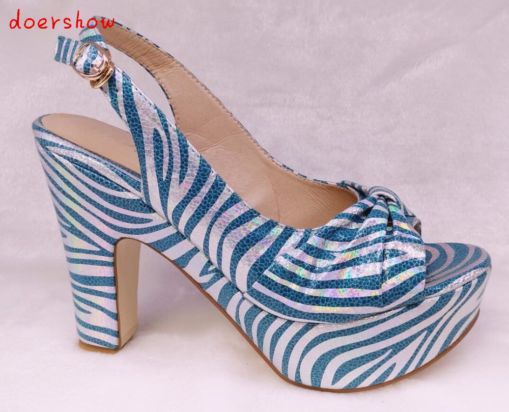 doershow sky blue Selling Fast Royalblue Italian Shoes Women African Party Shoes Pumps With Stone Wholesale HHY1-19 doershow african shoes and bags fashion italian matching shoes and bag set nigerian high heels for wedding dress puw1 19
