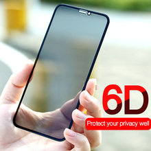 Anti glare Privacy 6D Tempered Glass Screen For iPhone X 7 8 8plus 7plus XR XS