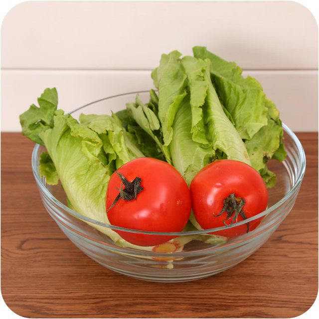 Online Shop Transparent Smooth Tempered Glass Bowl Round Large Salad
