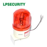 LPSECURITY  lámpara cableada LED roja impermeable para exteriores  luz roja  alarma intermitente  sirena estroboscópica para sistema de alarma GSM|strobe flashing|strobe red|strobe siren -