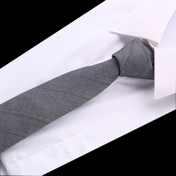 6 cm Tie Vintage Cotton Floral Neck Men Business solid color Gravatas Fashion Casual Printed Ties for Wedding
