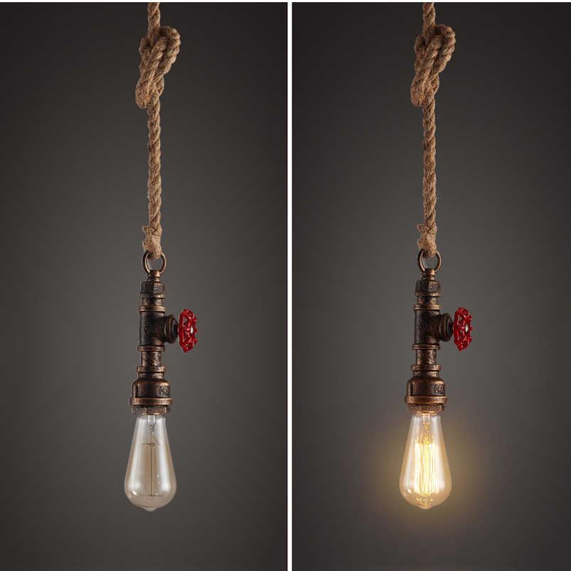 Retro loft rohr anhänger lampe vintage seil licht esszimmer restaurant aisle korridor pub studie büro bar cafe kronleuchter