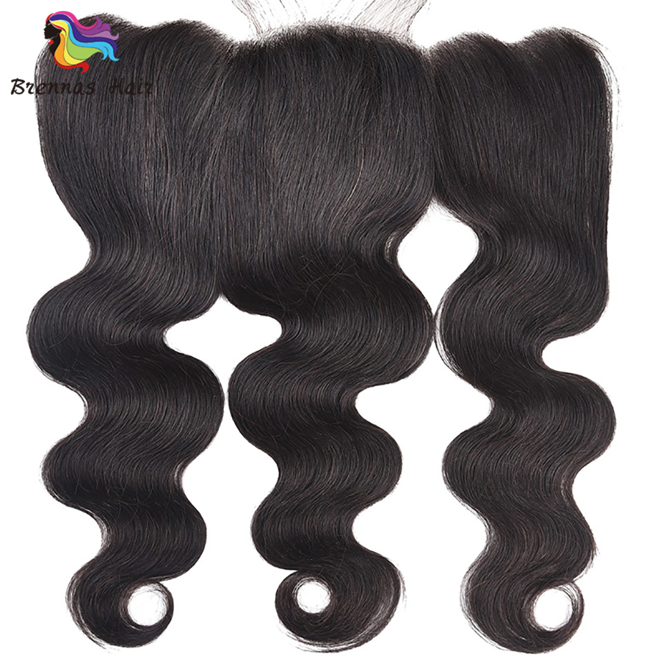 Brazilian 100% Human Hair lace frontal closure body wave 8 20inch 13*4 Lace frontal Natural Color Remy Hair swiss lace