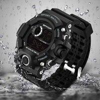 2017 Sanda Digital Watch Men Military G Style Shock Sport Watch Waterproof Electronic Wristwatch Mens Clock