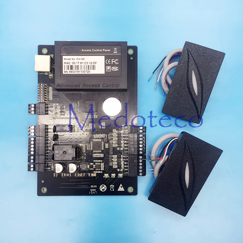 Built in auxiliary input and output IP based Door Access Control Panel TCP IP and RS485