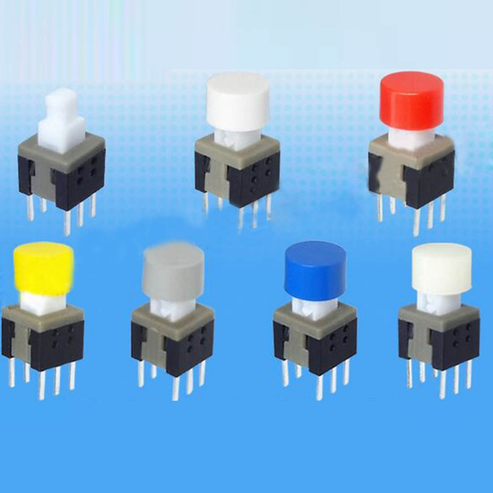 200pcs self locking switch cap 6*3.9mm button cap multi color push button switch cap for height 5.8/7/8/8.5mm self locking switc