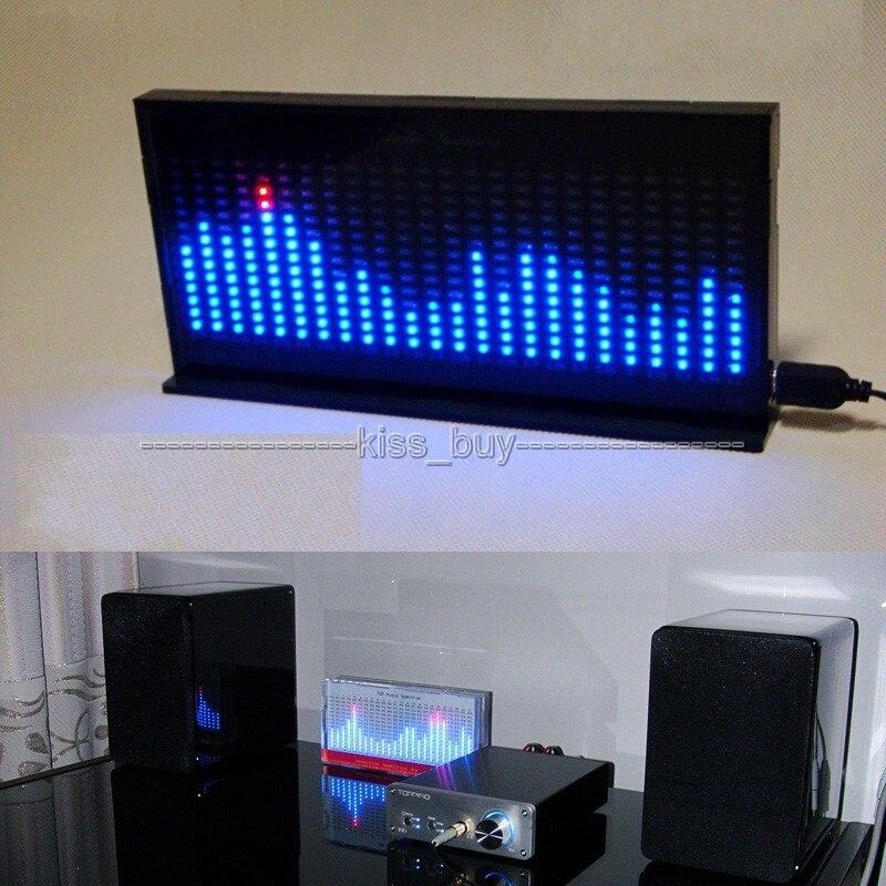 Kit de bricolage AS1424 indicateur de niveau numérique affichage de LED Audio clignotant indicateur d'analyseur de spectre de musique pour amplificateur de puissance mp3 noir