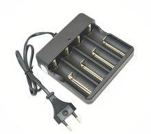 Chất lượng cao EU/US Cắm Đa Chức Năng Battery Charger 4 Slots Phổ đối 18650 14500 16340 26650 Li Ion Pin