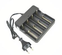 Hoge kwaliteit EU/US Plug Multifunctionele Acculader 4 Slots Universal voor 18650 14500 16340 26650 Li