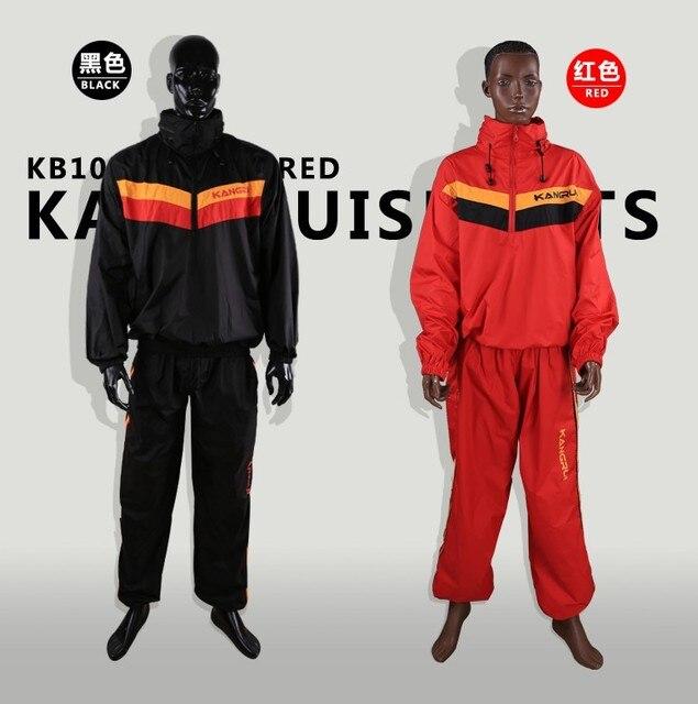 Red Black Waterproof airproof Sweat coat sauna suit men women running sport fitness uniform lose weight reduce weight clothes 3
