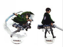 Cosplay Anime Attack On Titan Rivaille Saingan Ackerman Acrylic Stand Sosok Mainan Halloween Meja Stand Gambar Hadiah Natal(China)