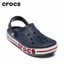 8c1480227a CROCS Bayaband Entupir Sandálias de Praia Unissex Homens Mulheres Sandálias  Crocs-sapatos de Água Azul