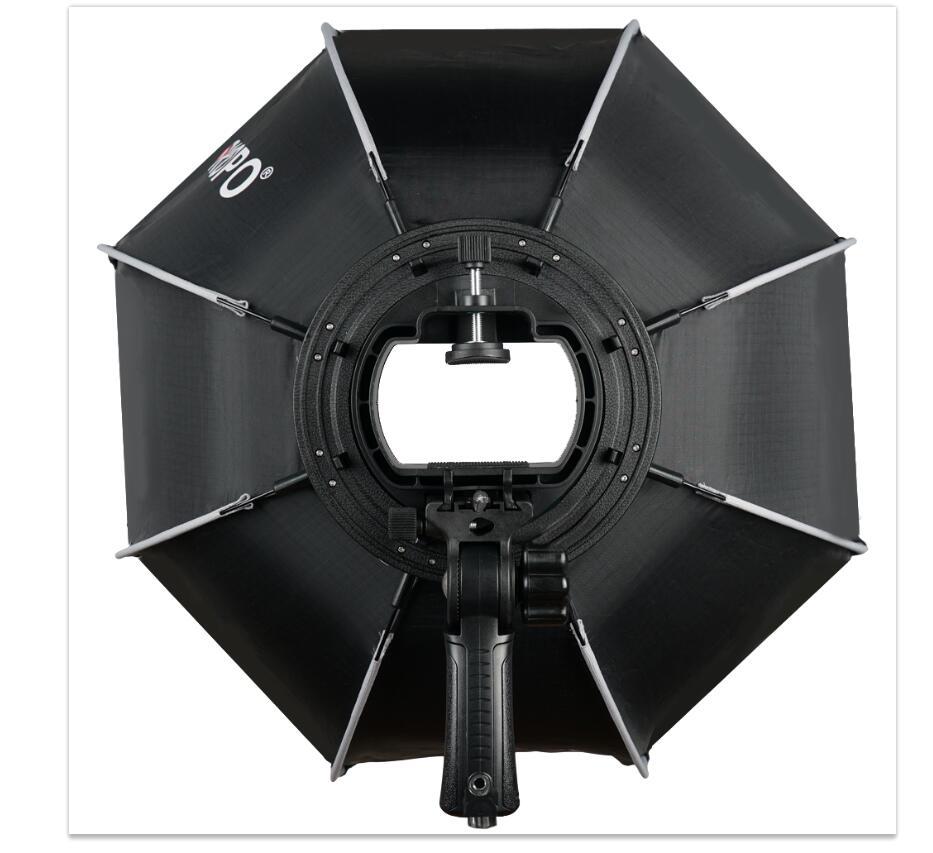 TRIOPO 55cm portátil al aire libre Octagon Softbox paraguas para Godox V860II TT600 TT685 YN560 III IV TR-988 Flash Speedlite caja suave - 6