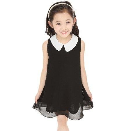 rochie de vară Chiffon rochie nouă rochie de fată noi gratuit de transport pentru 3-11 vârstă arcul florale Fete Printesa Party Bow Rochii de moda rochie 23