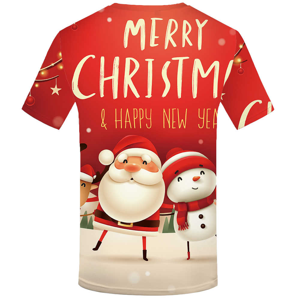 Funny Christmas Santa snowman Women Men T-Shirt 3D Print Short Sleeve Tee Tops