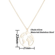 Best Sterling Silver World Map Necklace Cheap