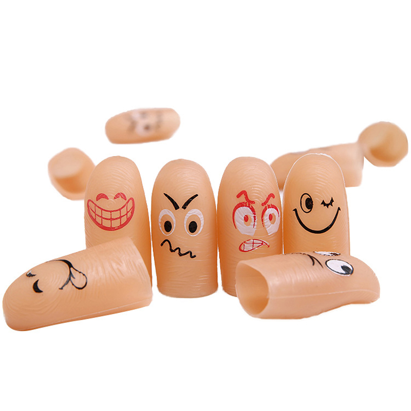 6pcs/set Novelty funny simulation emoji magic finger popular children party magic trick props toys kids birthday Christmas gift