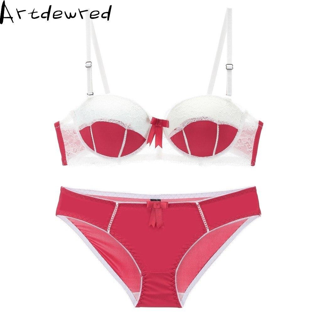 Hot sales BCD Cup Big Size Luxurious Women   Bra     Set   Push Up Lace   Bra     Brief     Sets   Sexy Brassiere Patchwork Underwear   Set