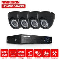 NINIVISION Home CCTV Security Camera System HD 4MP AHD DVR 4.0MP CCTV Camera System 4 Channel Video Surveillance Kit