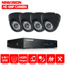 NINIVISION Home CCTV Security Camera System HD 4MP AHD DVR 4.0MP CCTV Camera System 4 Channel Video Surveillance Kit