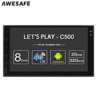 Double 2 Din Car Radio Player Eight Core Android 6 0 With GPS 1024 600 Support