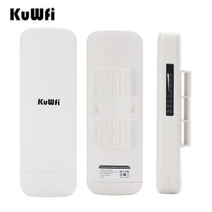 Image 4 - KuWfi 900Mbps sans fil CPE routeur pont sans fil extérieur longue portée 3.5KM WIFI répéteur WIFI Extender système pour caméra IP POE
