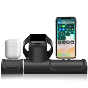 Image 5 - 3 In 1 Charge Stand Dock Station For Apple Watch Series 5/4 Silicone Charge Base For Iphone 11 Pro Charging Dock For Airpods Pro