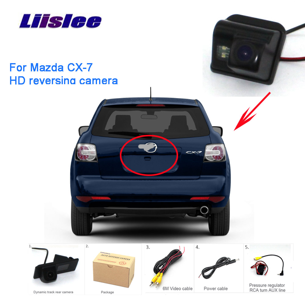 Liislee For Mazda CX7 Rear View Camera Parking Reverse