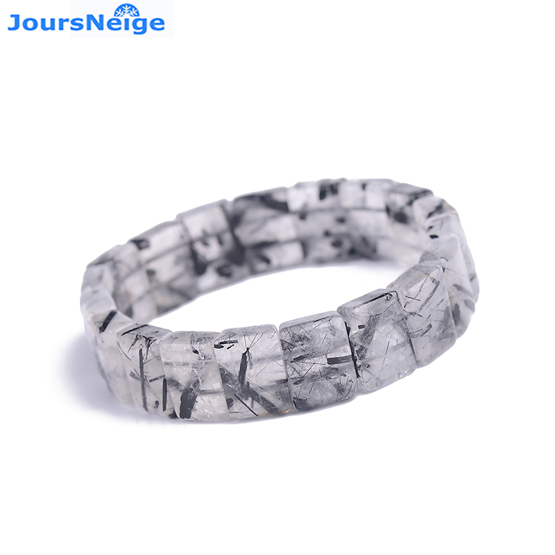 Wholesale Black Hair Natural Stone Bracelets Lucky For Women Men Gift birthday Present Simple Energy Crystal Hand Row Jewelry