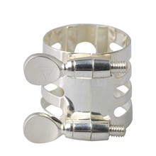Yibuy 29x25mm Silver Plate B-Flat Mouthpiece Ligature for Clarinet Woodwind Instrument Accessories
