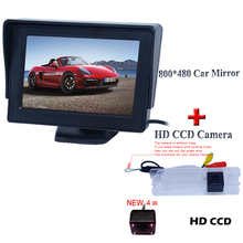 Parking Assistance  Car Mirror Monitor +universal Rear View Parking Camera For Nissan March /For Renault Logan / Sandero