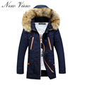 2016 Winter Jacket Men Thickening Casual Warm Fur Hooded Collar Jackets Down Coat Baseball Design Outdoors Veste Homme Parka