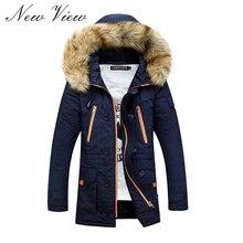 2016 Winter Jacket Men Thickening Casual Warm Fur Hooded Collar Jackets Down Coat Baseball Design Outdoors Veste Homme Parka