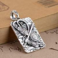 2020 new S925 Sterling Silver Pendant Jewelry Silver process fighting over the Buddha Sun Wukong Pendant NEW