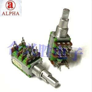 Двухосевой регулируемый прецизионный потенциометр ALPHA type 12 B100K, двухдиапазонный переключатель усилителя мощности, громкость звука