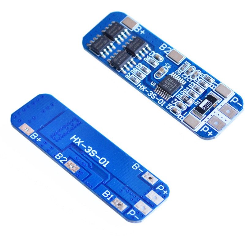 2pcs 3S 10A 12V Lithium Battery Charger Protection Board Module for 3pcs 18650 Li-ion Lipo Battery Cell Charging Overcharge 18650 lithium battery 5v micro usb 1a charging board with protection charger module for arduino diy kit