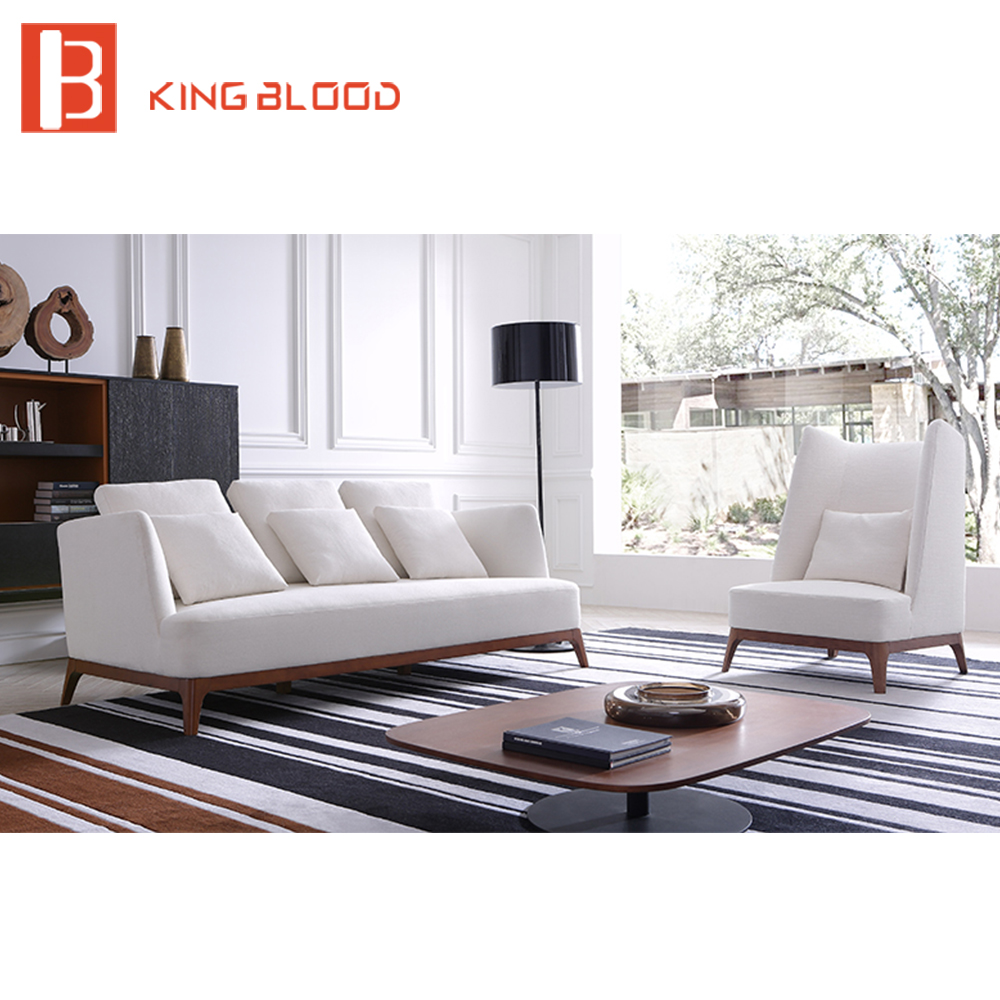 Us 424 0 Modern Wedding White Linen Fabric Upholstery Wooden Leisure Sofa Chair Sets Picture In Living Room Sofas From Furniture On Aliexpress