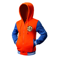 Zemtoo Hot New Dragon Ball Z Hoodie Sweatshirt Fleece Jackets Men Hoody Tracksuits Anime Cosplay Goku